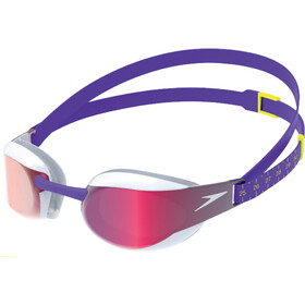 speedo Fastskin Elite Mirror Goggles violet/white/red gold
